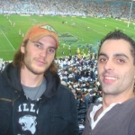 Movie star Taylor Kitsch & Mentalist Phoenix taking time out between filming XMEN