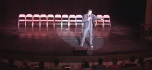 Phoenix kicking off another evening of hilarity with his hit stage hypnosis show