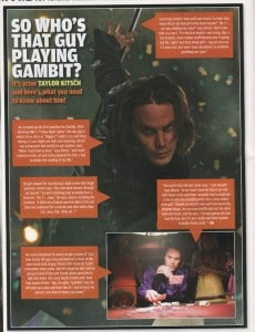 Article in Wizard Magazine on Gambit & XMEN